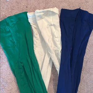 3 pairs of gently used opaque leggings size L